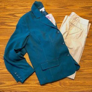 Beautiful emerald Coldwater Creek blazer